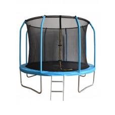 Синий батут Bondy Sport 12 ft с сеткой и лестницей
