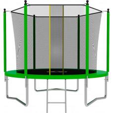 Батут SWOLLEN Lite 8 футов зеленого цвета