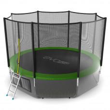 Батут EVO JUMP External 12ft зеленый + нижняя сетка