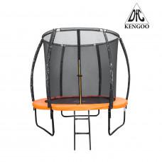 Батут DFC KENGOO II 10ft внутр.сетка, лестница, оранж/черн (305см)
