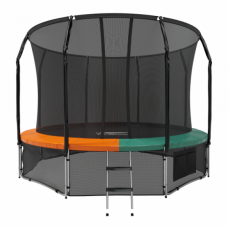 Батут с защитной сеткой Space Green/Orange 12футов