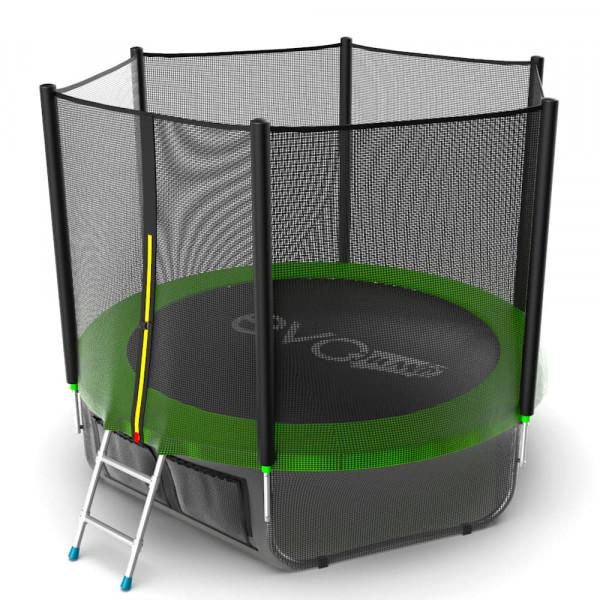 Батут EVO JUMP External 8ft (зеленый) + нижняя сетка