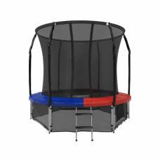 Батут с защитной сеткой Space Blue/Red 8футов