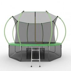 Батут EVO JUMP Internal 12ft (зеленый) + нижняя сетка