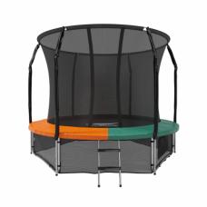Батут с защитной сеткой Space Green/Orange 10футов