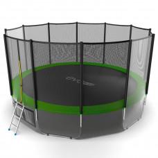 Батут EVO JUMP External 16ft (зеленый) + нижняя сетка