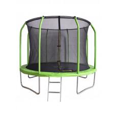 Зеленый батут Bondy Sport 10 ft с сеткой и лестницей