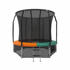 Батут с защитной сеткой Space Green/Orange 8футов