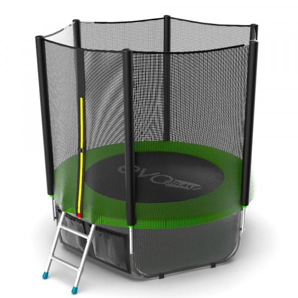 Батут EVO JUMP External 6ft, (зеленый) + нижняя сетка